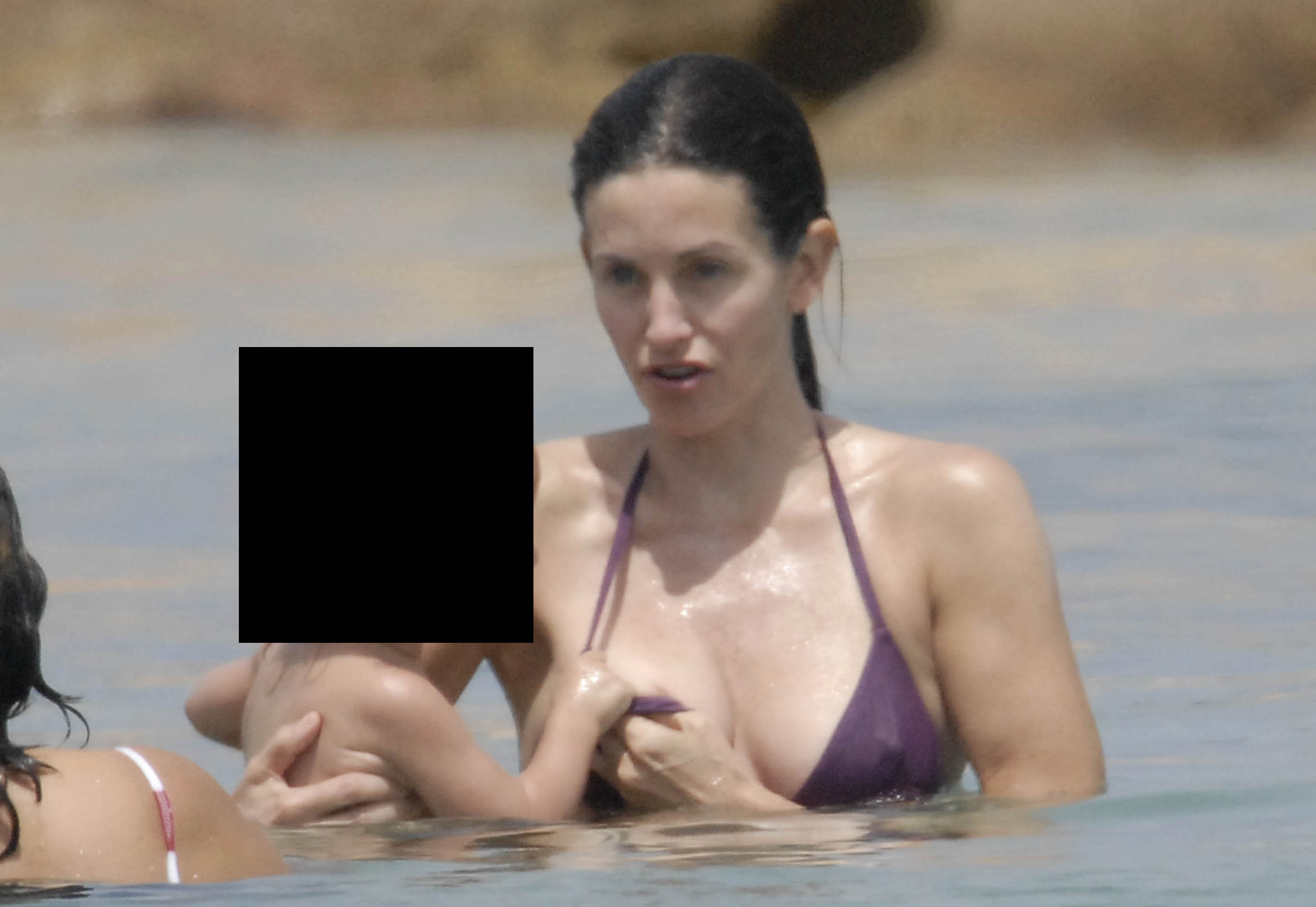You courtney cox nipple slip