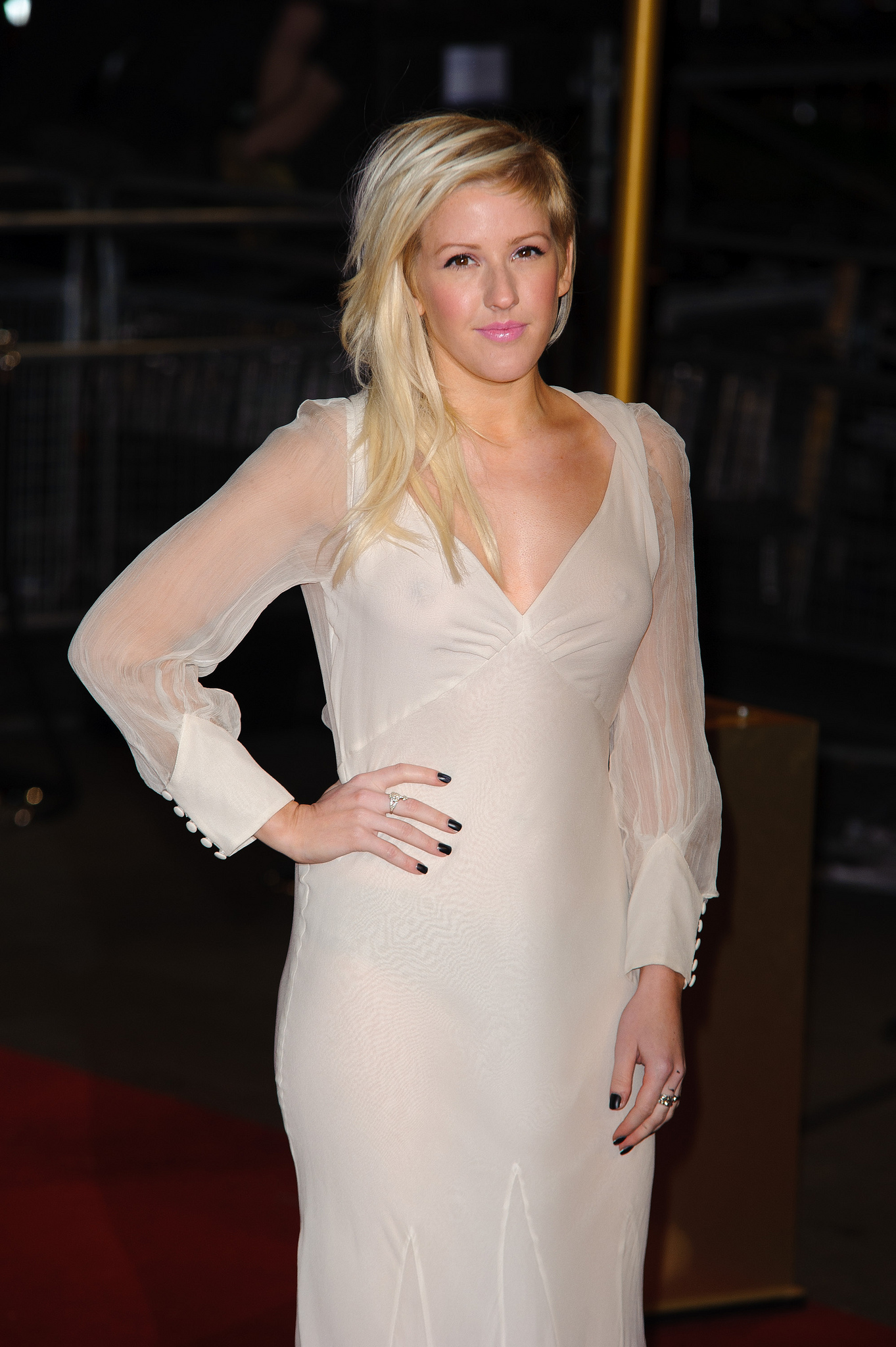 Ellie Goulding See through Dress