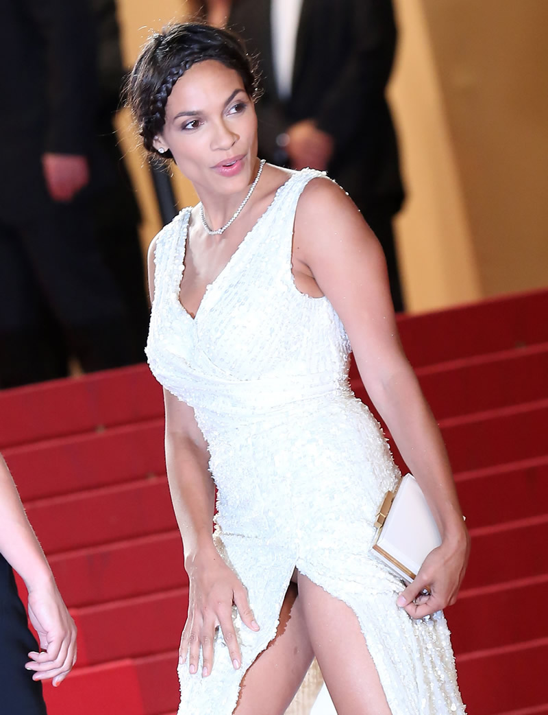 """Rosario Dawson @ the premiere of """"As I Lay Dying"""" in Cannes Film"""